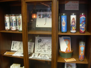 Pillar candles, black and white prints, art and more....
