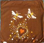 Batik heart. bee pillow cover.RCJAE, LLC all rights reserved Sleeping Bee Batiks.2015